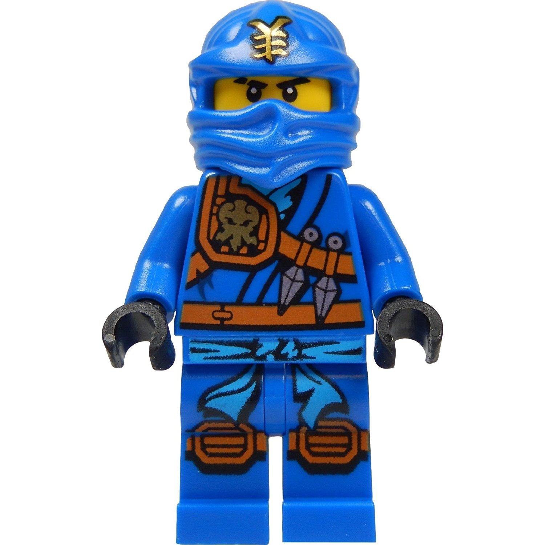 LEGO Ninjago - Minifigura Jay (ninja azul) con katana (espada) 2015 versión