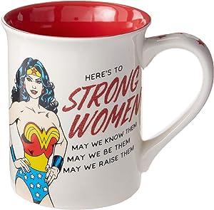 Enesco Our Name is Mud DC Comics Wonder Woman Strong Woman Mug