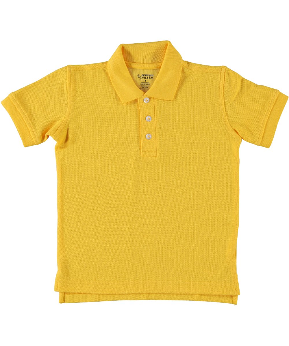 French Toast Unisex Short Sleeve Pique Polo - Gold, 18