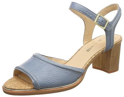 55cdb34535d8 Clarks Ellis Clara Leather Sandals in Blue Standard Fit Size 4½ ...