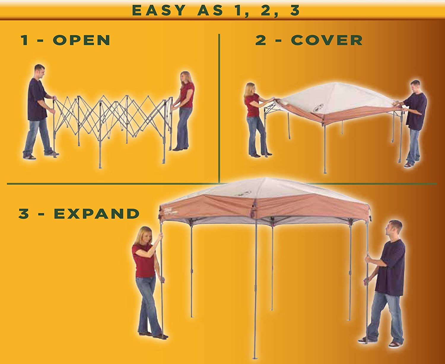 Coleman Screened Canopy Tent with Instant Setup | Back Home Screenhouse Sets Up in 60 Seconds 71 C z5zIwL