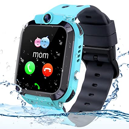 Themoemoe Kids GPS Tracker Watch, Kids Smartwatch IP68 Waterproof With GPS Tracker Phone Alarm Clock Game Camera Compatible with 2G T-mobile Birthday ...