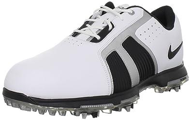 best service 5d0ae 45ed7 Nike Golf Men s Nike Zoom Trophy Golf Shoe,White Black Metallic Silver,