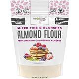 Wholesome Yum Premium Super Fine Blanched Almond Flour (16 oz / 1 lb) - Gluten Free, Non GMO, Keto Friendly Flour…
