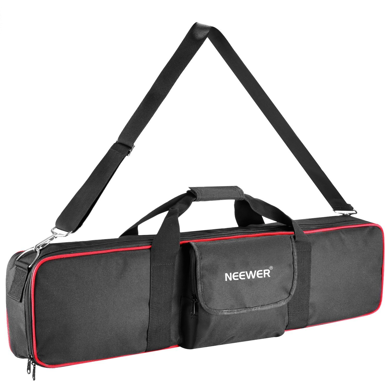 Neewer Large Photo Studio Lighting Equipment Carrying Bag 30x7x3.7inches with Shoulder Strap and Handle for Light Stand, Tripod, Umbrella, Monolight, LED Light, Flash and Other Accessories (Black/Red)
