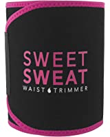 Sweet Sweat Waist Trimmer (Pink Logo) for Men & Women. Includes Free Sample of Sweet Sweat Workout Enhancer!