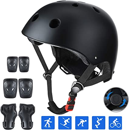 Children Kids Safety Helmet For Roller Scooter Cycling Skate Bike Fit 3-12 Years