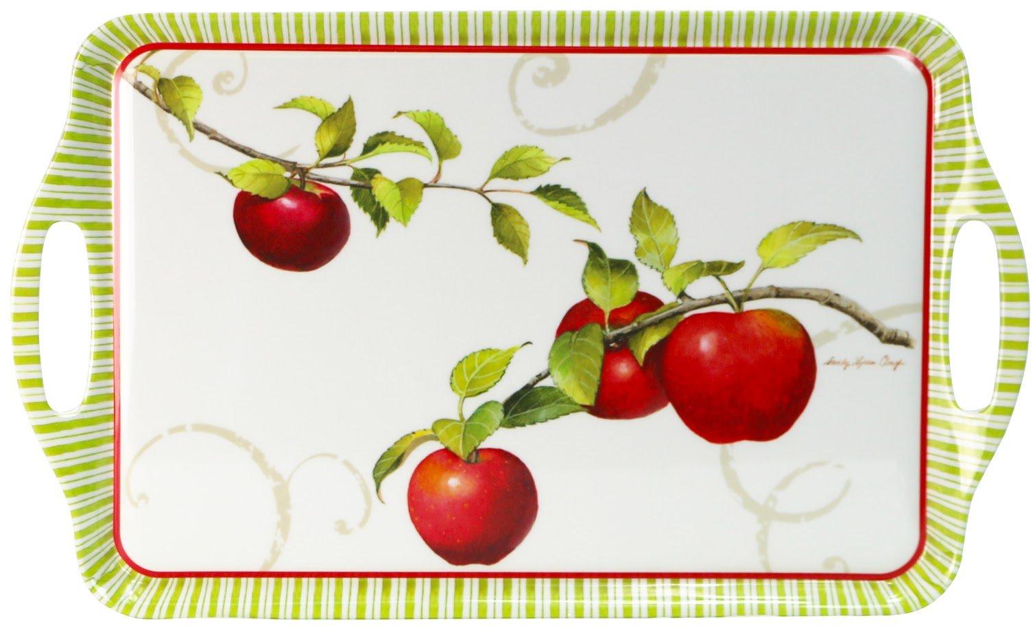 Reston Lloyd Harvest Apple Collection by Sandy Clough Melamine Rectangular Serving Tray
