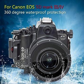 Funda Sumergible Sumergible para cámara Canon EOS M5 de 22 mm, 40 ...