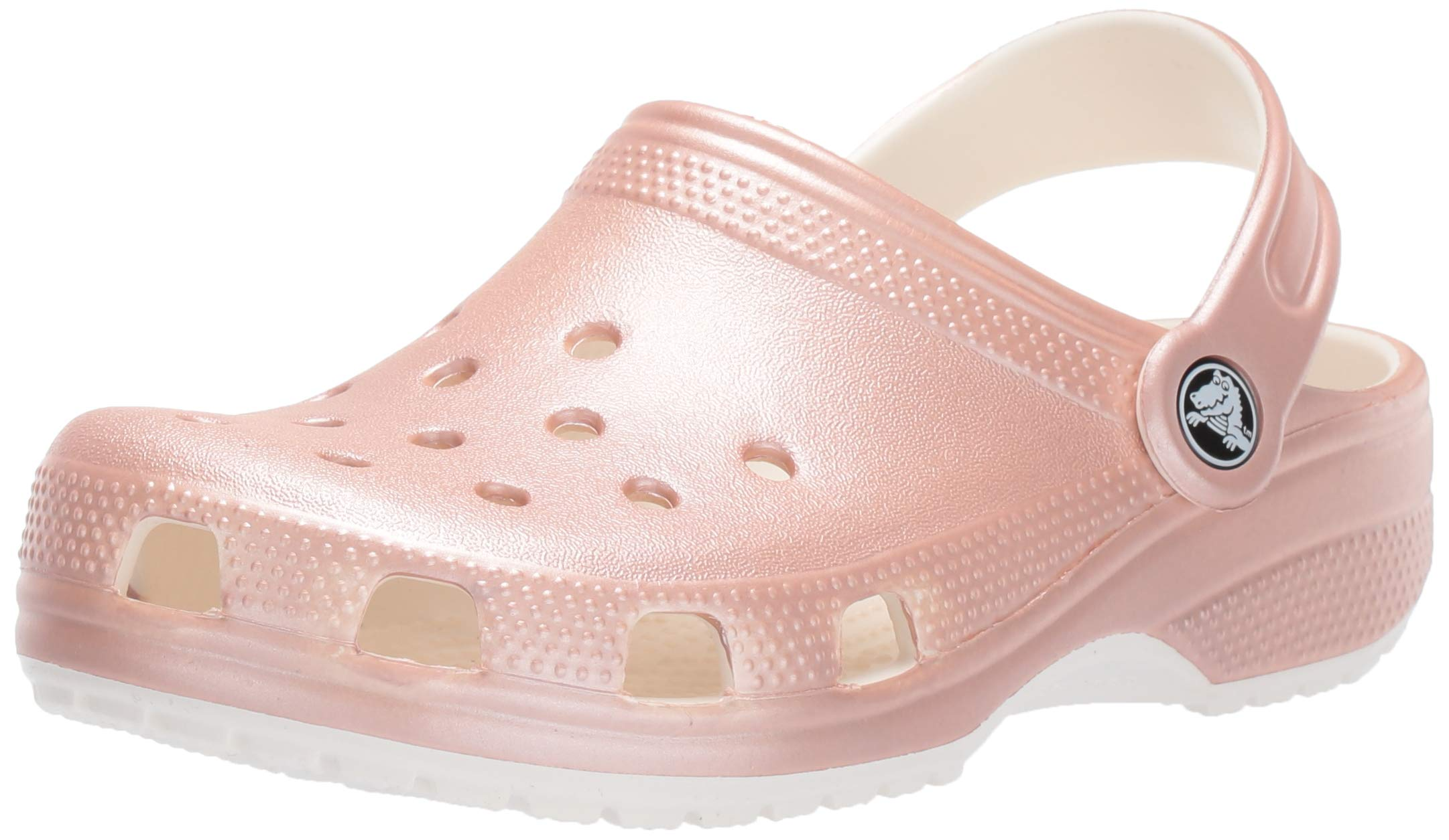 Crocs Classic Metallic Clog, Rose Gold, 3 M US Little Kid by Crocs