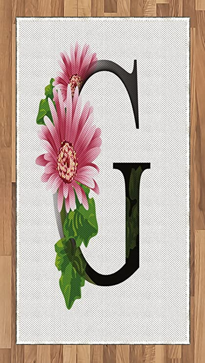 Amazoncom Ambesonne Letter G Area Rug Alphabet Letter With