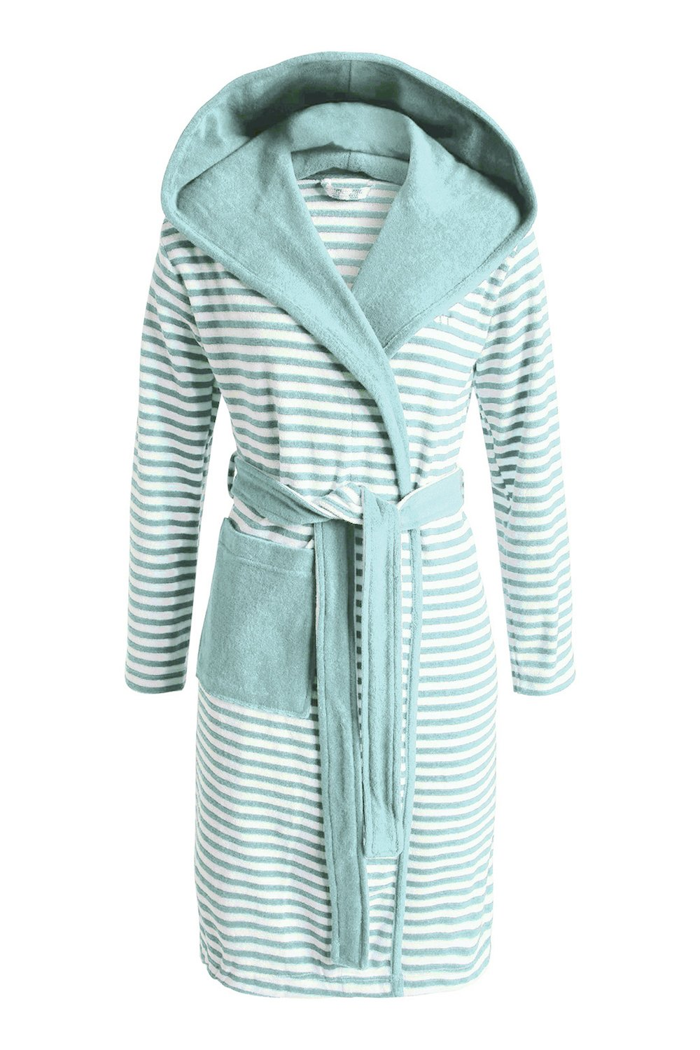 ESPRIT Bademantel Striped Hoodie   Mint   M