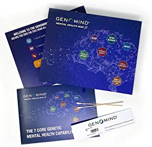 Genomind Mental Health Map: DNA Test for Genetic Insights into Your Mental Health and Wellness Including Stress and Anxiety, Focus and Memory, Sleep and More
