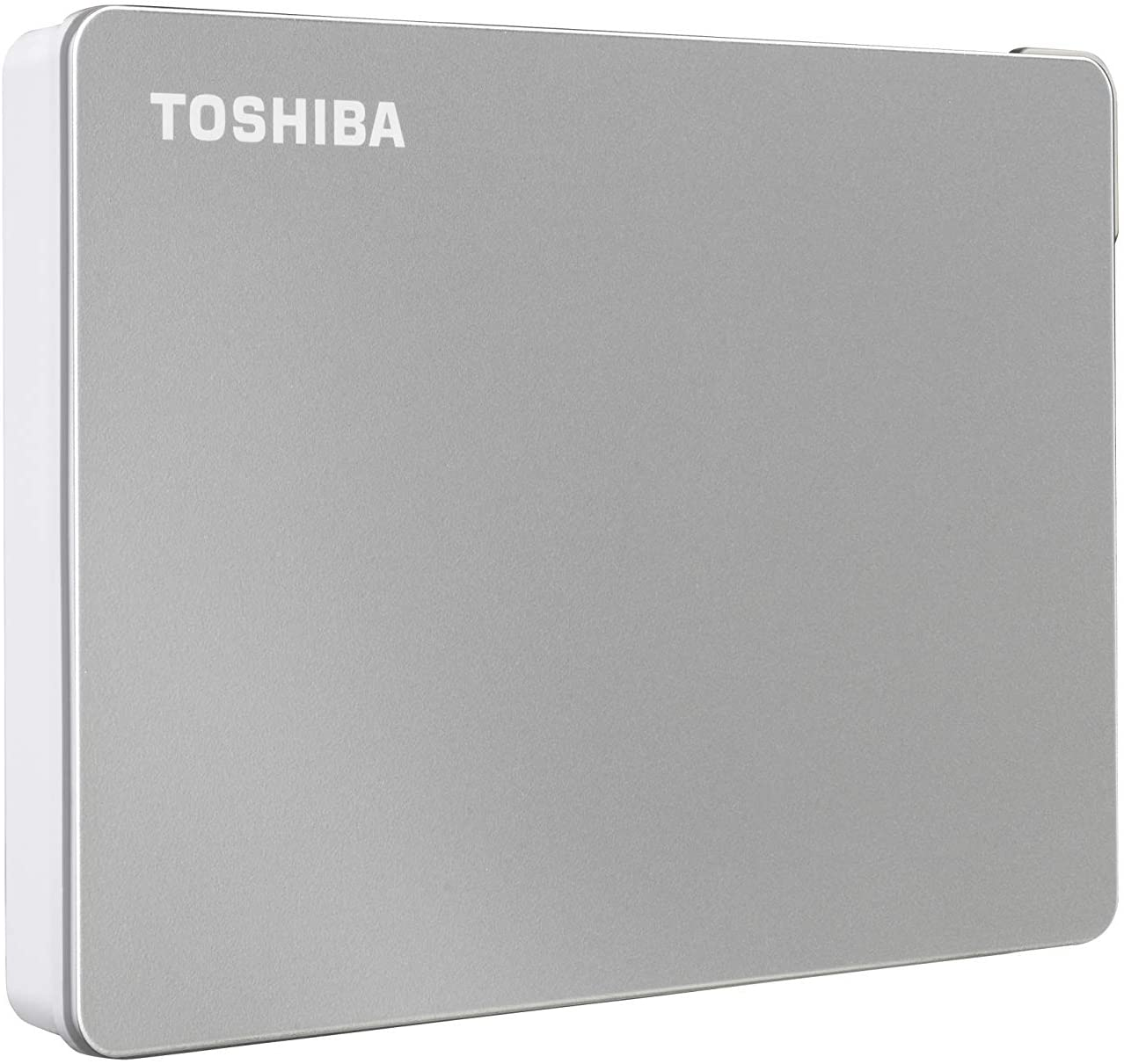 Toshiba Canvio Flex 2TB Portable External Hard Drive USB-C USB 3.0, Silver for PC, Mac, Tablet - HDTX120XSCAA