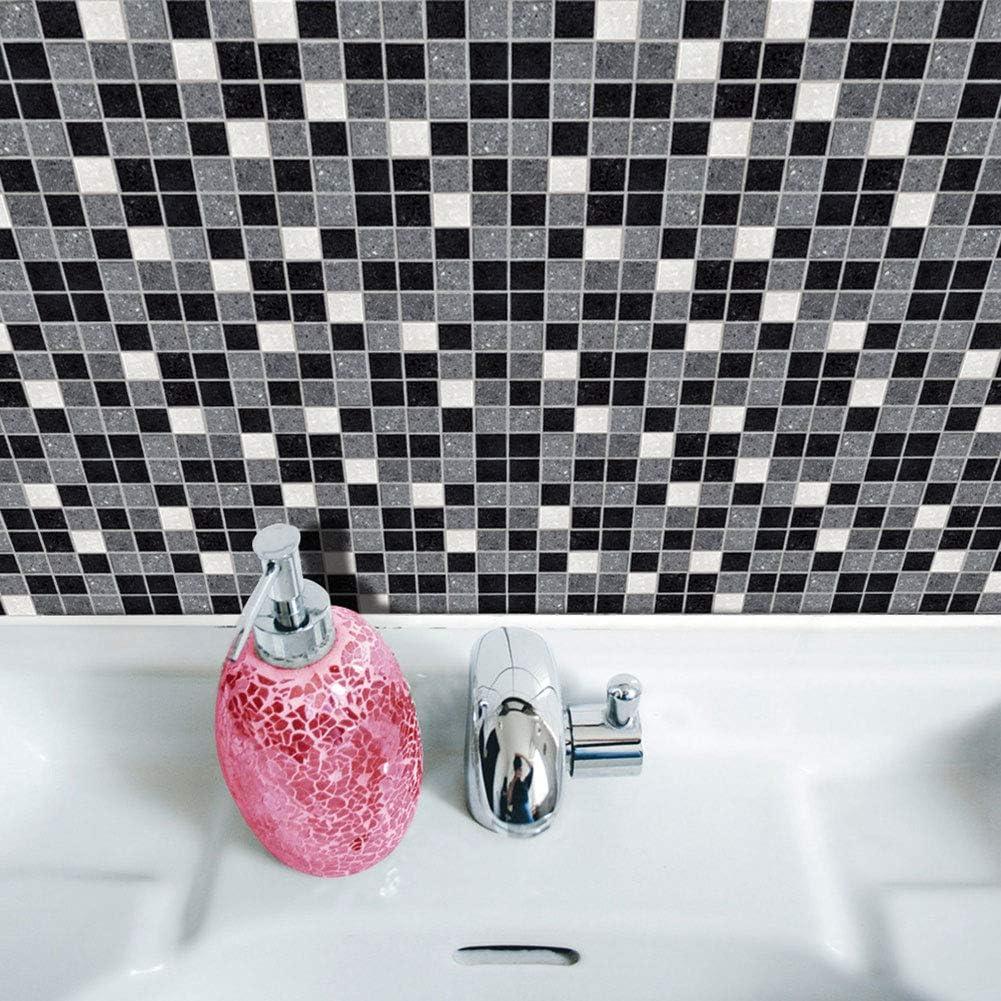 adhesivos impermeables papel de cocina ba/ño baldosas paredes de vinilo calcoman/ías para el hogar 10 x 10 cm 19 piezas adhesivos de mosaico