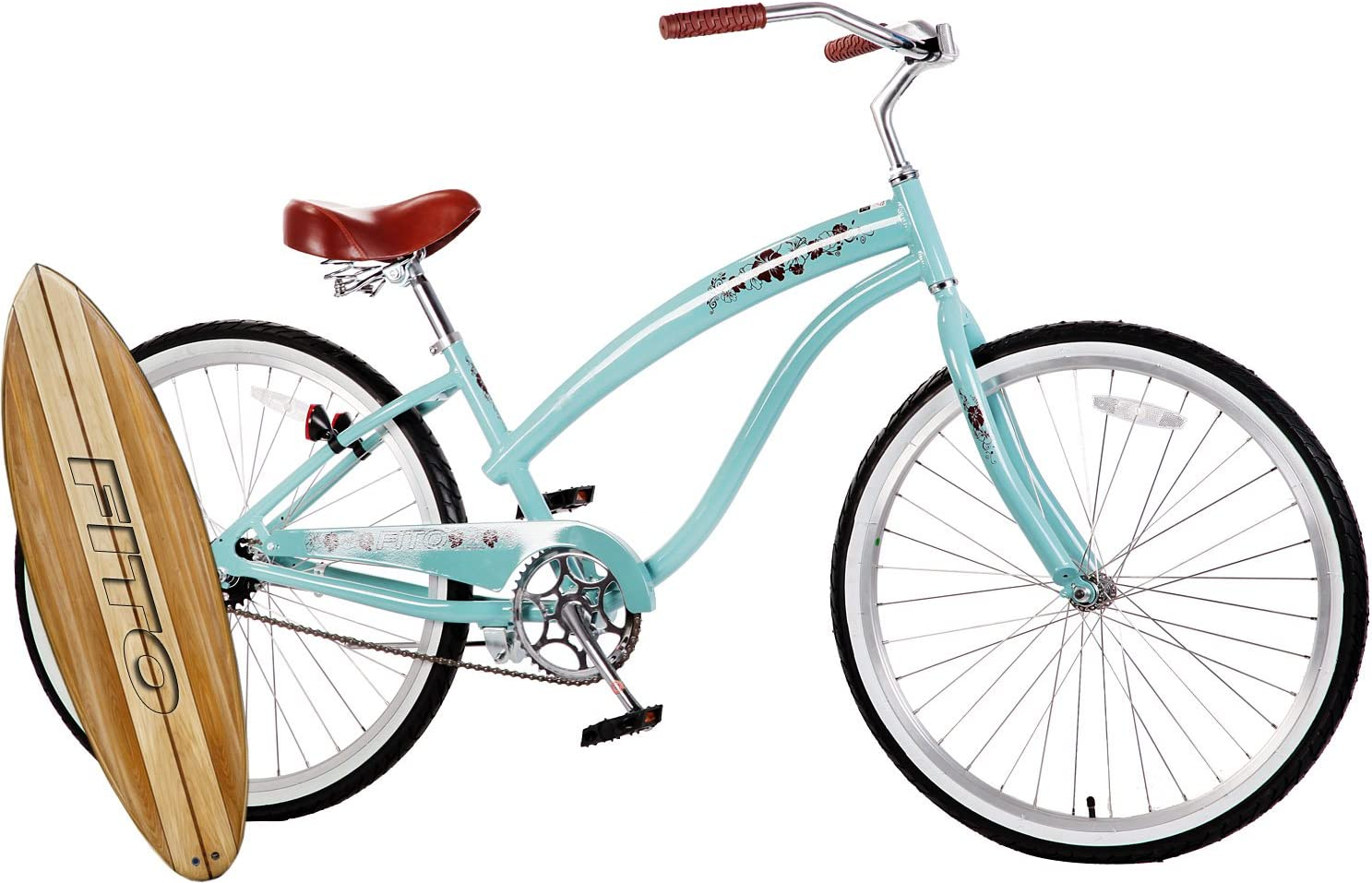 Amazon Com Fito Anti Rust Aluminum Frame Modena Ii Alloy Single 1 Speed Sky Blue Women S 26 Beach Cruiser Bike Bicycle Sports Outdoors