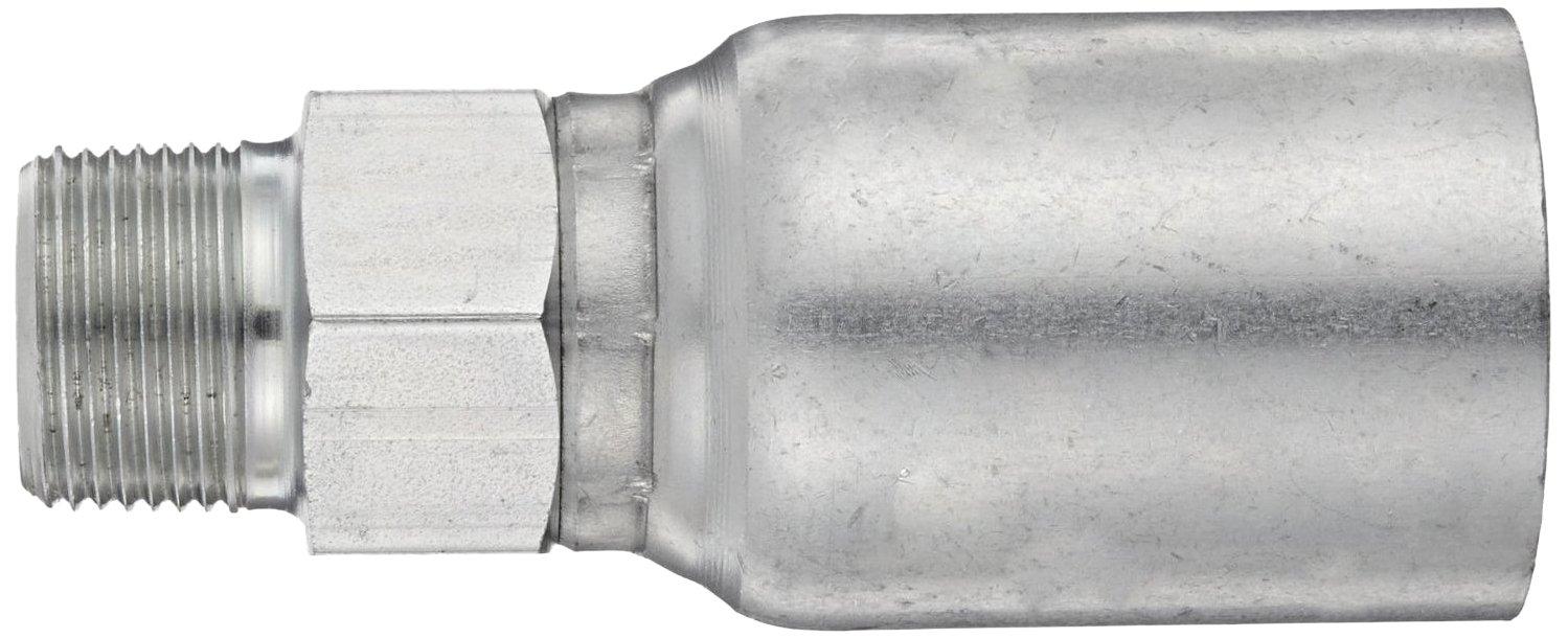 EATON Weatherhead Coll-O-Crimp 08U-112 Male Pipe Rigid Fitting 1//2 Hose ID 3//4 NPT Male Low Carbon Steel