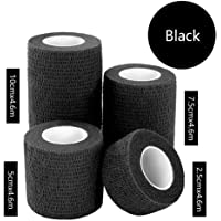 Niome Sports Waterproof Breathable Safety Adhesive Flexible Elastic Bandage First Aid Medical Health Care Gauze Protect Finger Wrist Ankle Knees Tape S 2.5cm