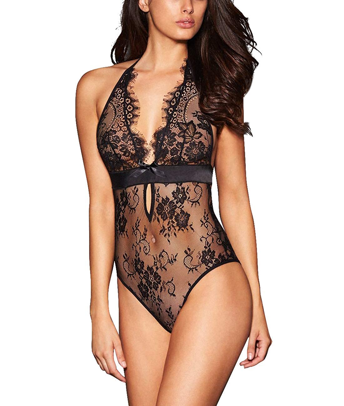 99330034329 This product ALLoveble is protected by the US Trademark Office under the  trademark number 87961329. Women Sexy Lace Lingerie - See-through floral  lace with ...