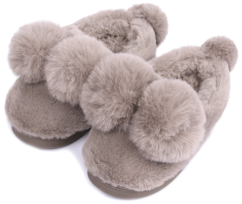 UIESUN Unisex Cute Ball Toddler Kids Shoes Slippers Boy Girl Winter Soft Bedroom Indoor House