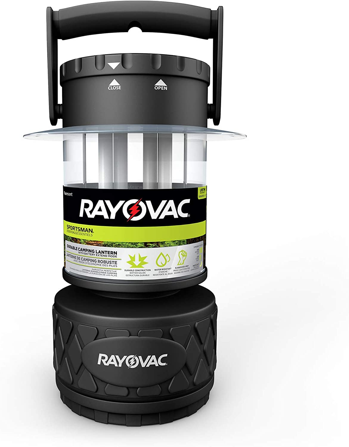 Rayovac Sportsman LED Camping Lantern Flashlight, 300 Lumens Battery Powered LED Lanterns for Hurricane Supplies, Survival Kit, Camping Accessories
