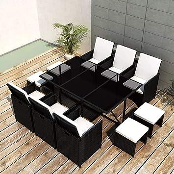 Balkonmöbel Tisch Stühle.Tidyard Garten Essgruppe 27 Tlg Poly Rattan Gartenmöbel Set Tischset Sitzgruppe Tisch Und Stuhl Set Gartentisch Und Stühle Gartensofa Set