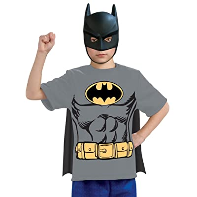 Justice League Child's Batman 100% Cotton T-Shirt - Small: Toys & Games