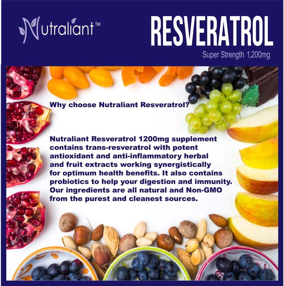 Amazon Com Resveratrol 1200mg Maximum Strength Supplement Trans Resveratrol Natural Antioxidant To Support Immune Heart Weight Loss Brain Health Trans Resveratrol Pills For Anti Aging 60 Veggie Capsules Health Personal Care