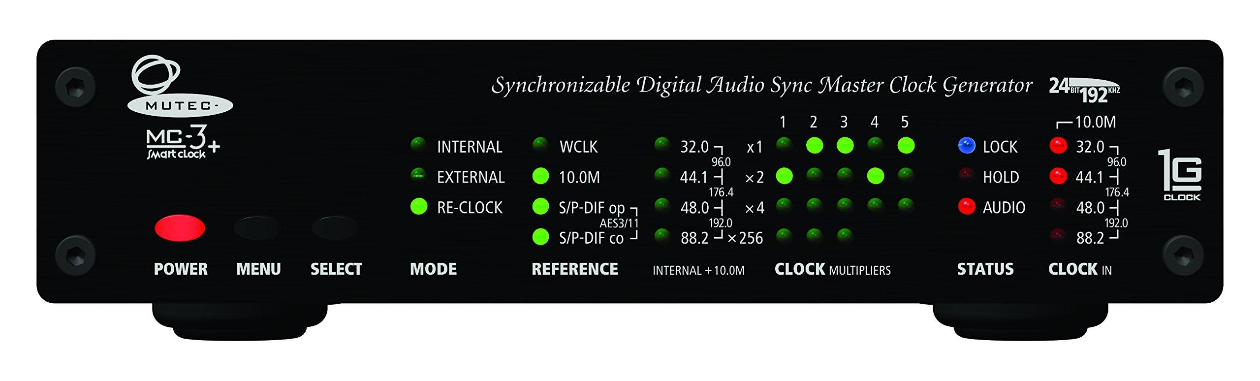Mutec MC-3+ Smart Clock Audio Clock Generators Black