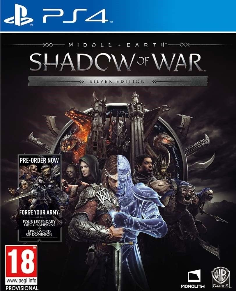 Middle Earth Shadow of War Silver Edition PS4 Game [Importación ...