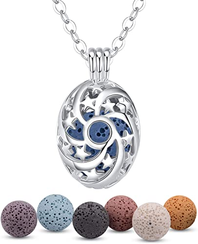 Star Essential Oil Diffusing Locket Necklace
