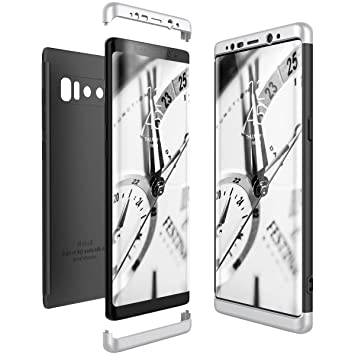 CE-Link Funda Samsung Galaxy Note 8, Carcasa Fundas para Samsung Galaxy Note 8, 3 en 1 Desmontable Ultra-Delgado Anti-Arañazos Case Protectora - Plata ...