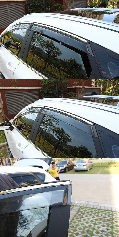 Window Visor rain Eyebrow rain Shield for Nissan Kicks Hamanding Car Acrylic rain Shield Black