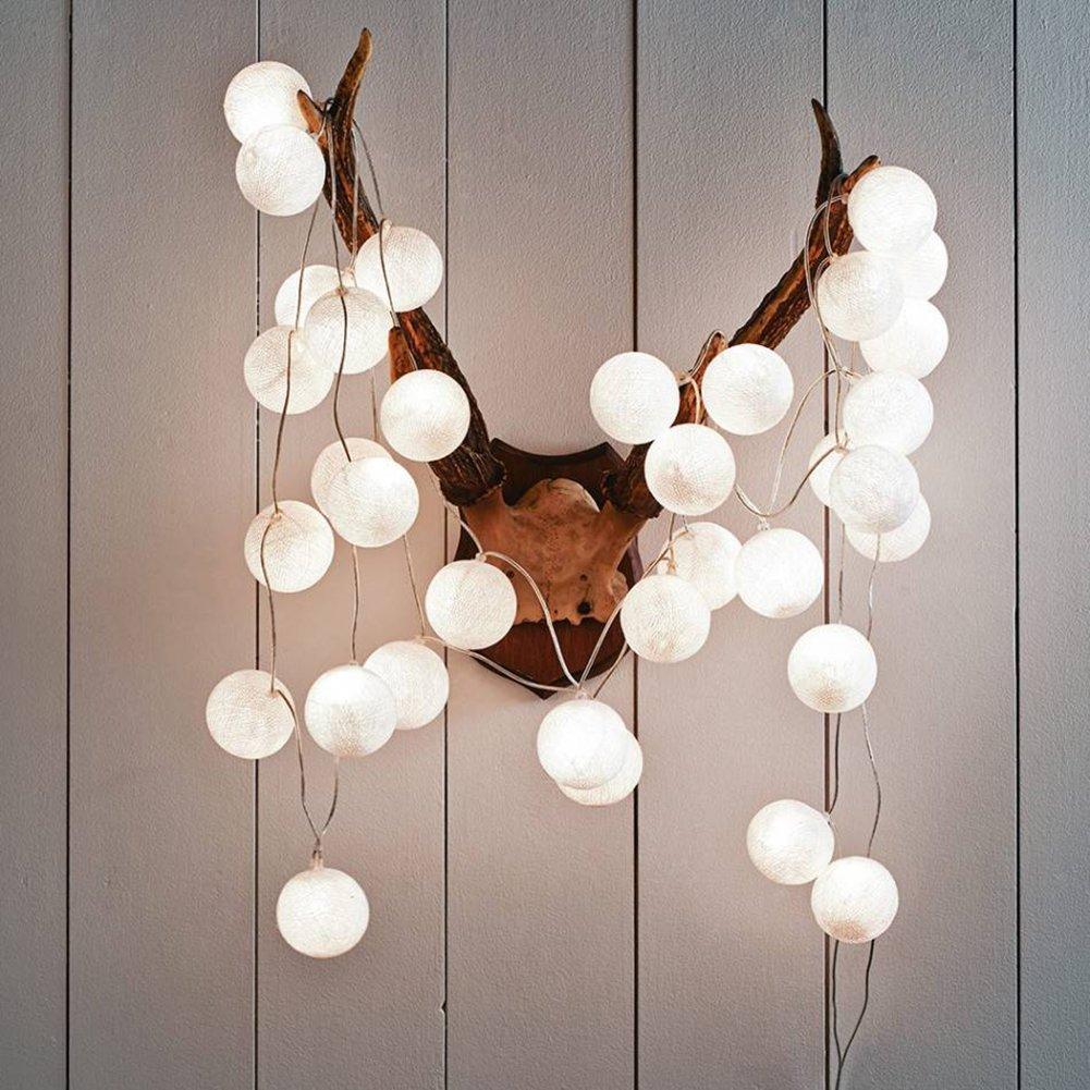 WOZI LED String Light Waterproof Mini Fairy Lamp, Garden Party Home Wedding Strip Decor for Christmas, Children's Night Lights (3M 20Balls, Battery)