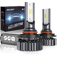 SEALIGHT Scoparc 9005/HB3 LED Headlight Bulbs, 12000LM High Beam Conversion Kit Plug and Play, 6000K Bright White…