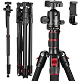 "MACTREM 80"" Camera Tripod, DSLR Tripod for Travel, Lightweight Aluminum 360 Degree Ball Head Professional Tripod…"