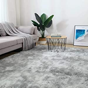 5x8 Grey Area Rugs for Living Room, Bedroom, Home Soft Fluffy Indoor Floor Shaggy Carpet Mat Christmas Thanksgiving Gift Rugs