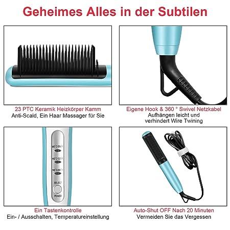 Kingdom Cares Hair alisador de pelo Brush Hair Stratocaster ight ening Brush Rosa: Amazon.es: Belleza