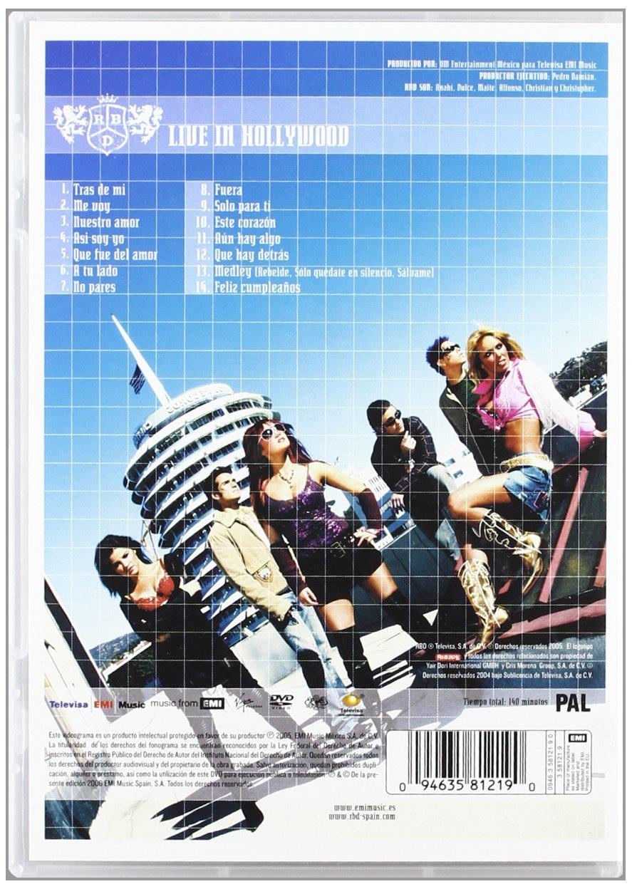 Rbd - Live In Hollywood [Italia] [DVD]: Amazon.es: Rbd: Cine y Series TV