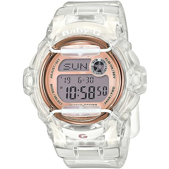 Casio Baby-G Reloj de mujer de pulsera con correa de resina transparente: Amazon.es: Relojes