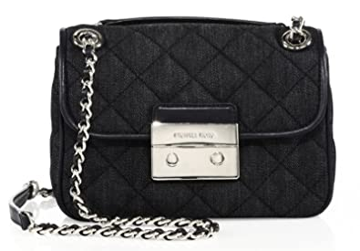 28272501e0f436 Image Unavailable. Image not available for. Color: Michael Kors Sloan Dark  Denim Shoulder Bag ...