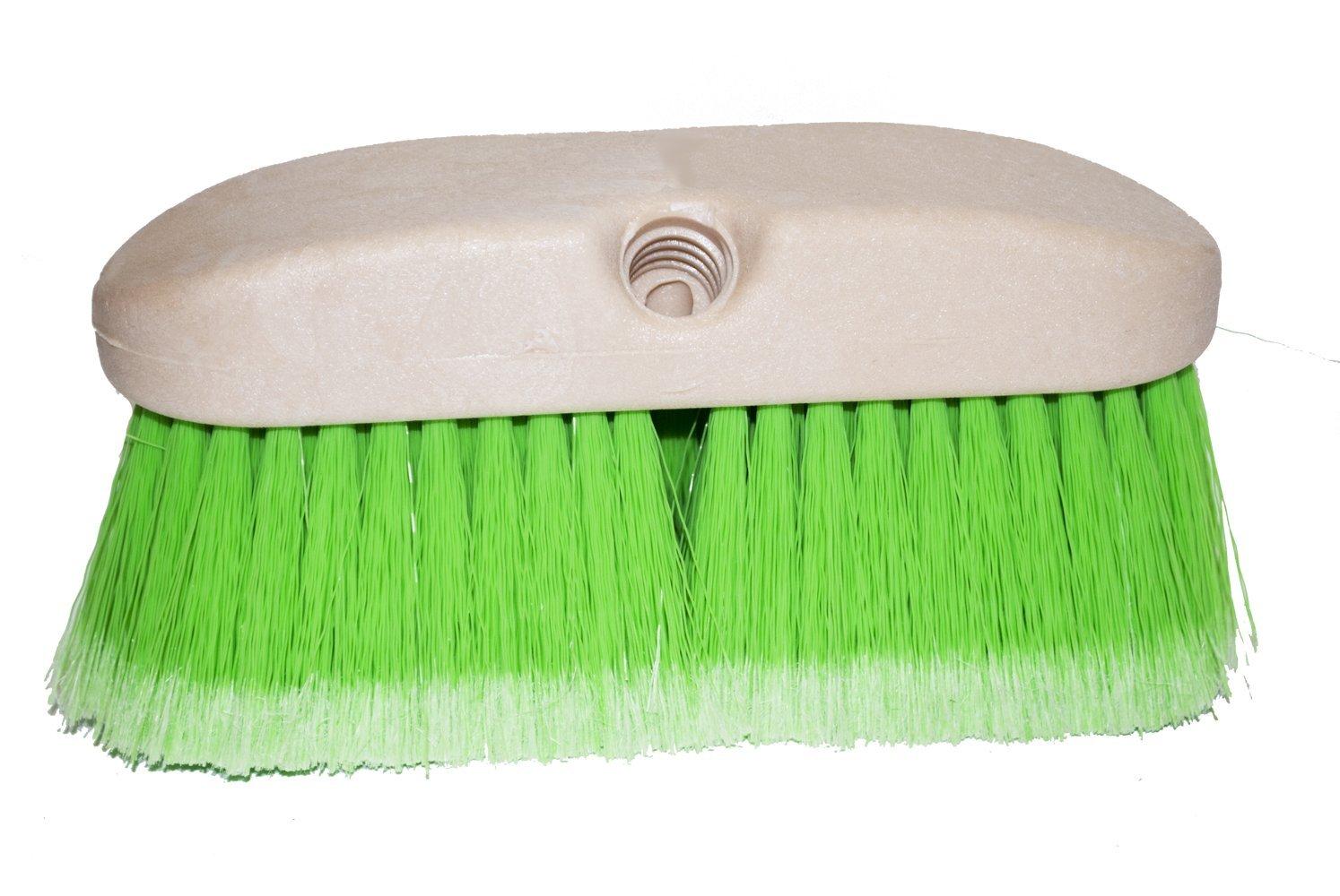 Magnolia Brush 3036-G Flagged Polystyrene Concrete Mixer and Mobile Home Washing Brush, 8'' Foam Plastic Block, 2-1/2'' Trim, Green (Case of 12)