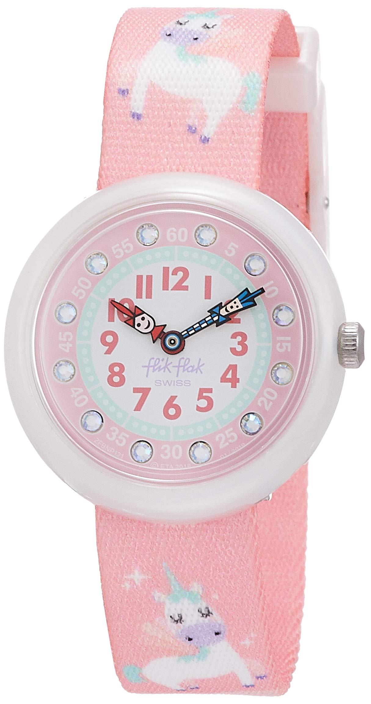 Flik Flak Kids' Quartz Nylon Strap, Pink, 14 Casual Watch (Model: ZFBNP121) by Flik Flak