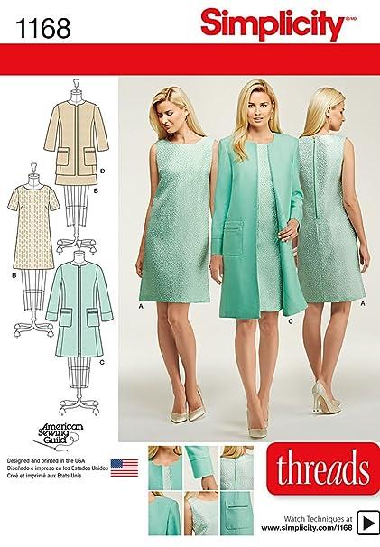 Amazon Simplicity Patterns US40H40 Misses Dresses and Coat or Impressive Simplicity Patterns Dresses