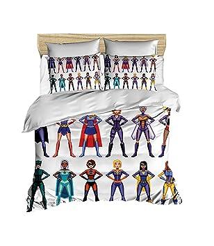 Amazon.com: OZINCI 100% Cotton Superhero Bedding Set ...
