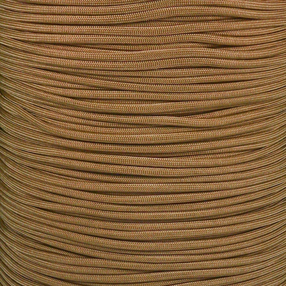 Paracord Planet 550 Cord Type III 7 Strand Paracord 25 Foot Hank Gold