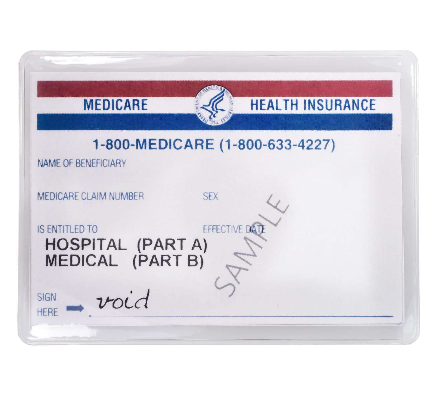 Medicare Credit Card Protector Sleeve Clear 6 Mil (24)