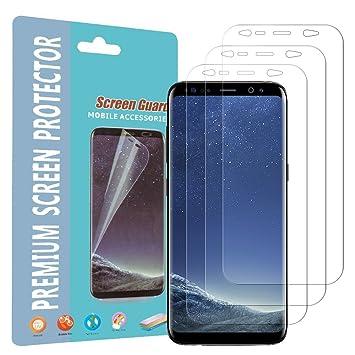 3 unidades] Galaxy S8 Plus Protector de pantalla, ailrinni [Self ...