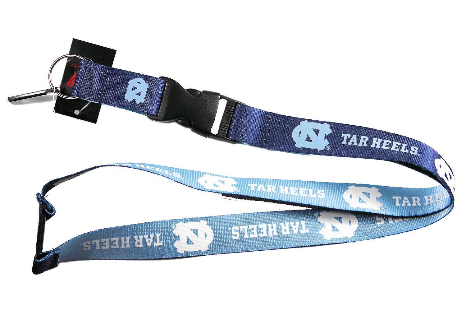 Aminco NCAA North Carolina Tarheels UNC Reversible Lanyard Keychain Id Holder Blue