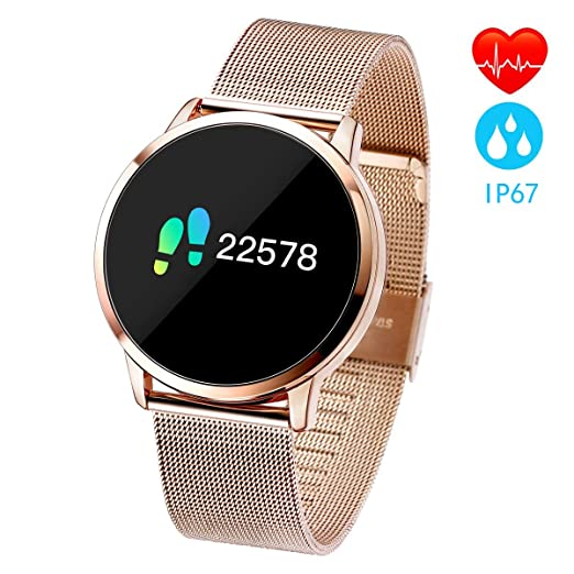 Pulsera Actividad Inteligente full OLED táctil Reloj Podometro Pulsera Hombre Mujer Impermeable IP67 Color Monitor de